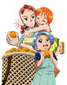 One Piece - Bellmer, Nojiko, Nami by DennisStelly on DeviantArt