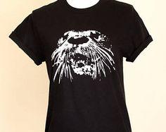 Otter Tee, River Otter Shirt, Unisex Mens Womens Apparel, Tahoe