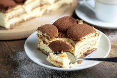 SEROWO-KAWOWE CIASTO Z INKĄ - bez pieczenia! Something Sweet, Dessert, No Bake Cake, Tiramisu, Sweets, Baking, Breakfast, Ethnic Recipes, Miami
