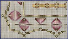 More than Bolillos: Yugoslavian Point (patterns) Swedish Embroidery, Diy Embroidery, Embroidery Stitches, Embroidery Patterns, Bargello Needlepoint, Needlepoint Patterns, Swedish Weaving Patterns, Monks Cloth, Weaving Designs
