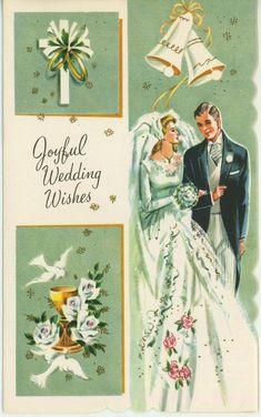 VINTAGE BRIDE GROOM WEDDING WHITE DOVES ROSES COMMUNION CUP FLOWER CARD PRINT Vintage Wedding Cards, Vintage Greeting Cards, Wedding Groom, Bride Groom, Wedding White, Communion Cups, Wedding Cake Roses, Grey Kitten, White Doves