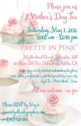 Mother's Day Tea: Pretty in Pink May 7, 2016 http://www.southbaybyjackie.com/mothers-day-tea-pretty-in-pink/ #Southbay #Events #Mother'sDayTeaPrettyinPink #TheNeighborhoodChurch #FellowshipHall #PalosVerdesEstates