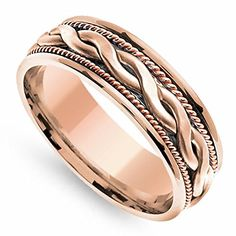 18K Rose Gold Braided Coil Twist Men's Wedding Band (7mm) Size-11 Wedding Rings Depot http://www.amazon.com/dp/B00Q7OP5H6/ref=cm_sw_r_pi_dp_aR0Wvb17TTXC3