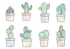 Free Watercolor Cactus Vector #watercolorarts