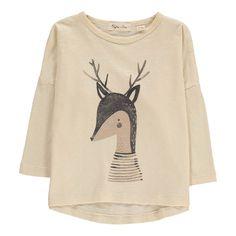 Rylee + Cru Camiseta Ciervo Crema