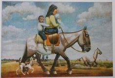 de paseo con los crios Exotic Art, Equine Art, Surrealism, Places To Travel, Culture, Cartoon, Drawings, Prints, Painting