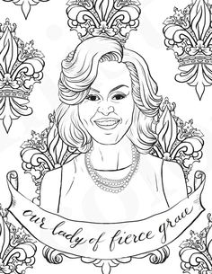 National Women's History Month coloring pages: Michelle Obama | Feminist Coloring on Etsy