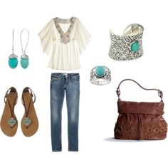 Turquoise casual..., created by rkimball by Aniky