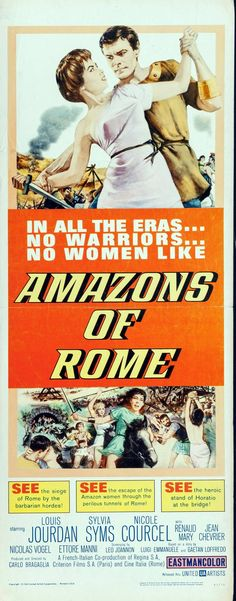 "Robert Emil Schulz, ""Amazons of Rome,"" movie poster art, 1962..."