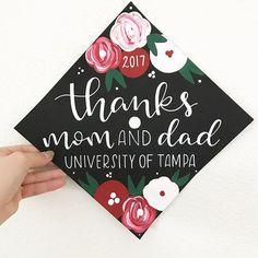 Thanks mom and dad graduation cap Graduation Cap Designs, Graduation Cap Decoration, Grad Pics, Graduation Pictures, Nursing Graduation, Graduation Gifts, Graduation Invitations, Grad Hat, Goodbye Gifts