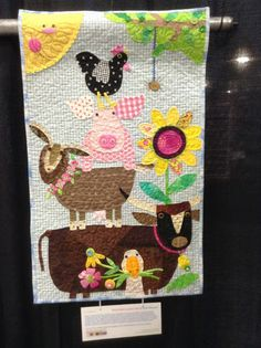 - Top Of The World Cute Quilts, Boy Quilts, Small Quilts, Mini Quilts, Patch Quilt, Applique Quilts, Quilt Blocks, Wool Applique, Farm Animal Quilt