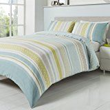 'Knox' King Duvet Cover Set in Duck Egg, Includes: 1x King Duvet Cover and 2x Pillowcases