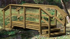 Landscape Timber Bridge Woodworking Plan. i want this across our pond