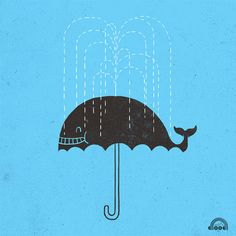 clever whale illustration