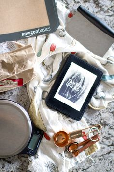 Amazon Kindle in the kitchen