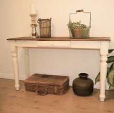 Farmhouse White Coffee Table By Ia Pastori Interior Design The Work Hand Painted And Refinished Wood Furniture Pinterest Tables