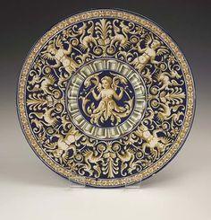 Antique Ginori Italian Majolica Maiolica Plate