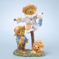 Cherished Teddies Collection - Figurine Scarecrow/Pumpkin