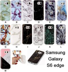 Phone Case For Samsung Galaxy S6 Edge Cases Marble Stone image Painted Cover Mobile Phone Bags Case For Galaxy S6edge Screen