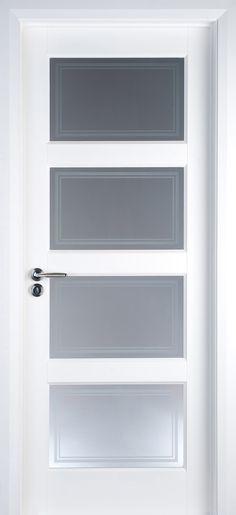 3 Lite Glass Door In Select Walnut Contemporary