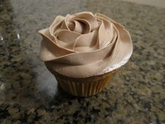 Filipino Mocha Cupcake (mocha chiffon cake with mocha swiss meringue buttercream)