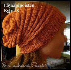Wurm-pipo (ohje suomeksi) Beanie Hats, Beanies, Volvo, Knitted Hats, Knitting Patterns, Diy And Crafts, Winter Hats, Crochet, Amigurumi