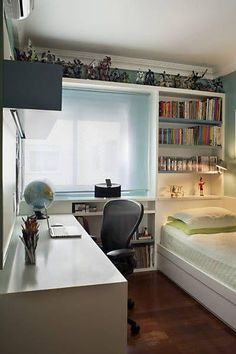 Wohnung Youth room - New decoration styles Acne Facts And Fictions Acne is far from an uncommon ailm Small Apartment Bedrooms, Apartment Bedroom Decor, Teen Bedroom, Small Rooms, Small Apartments, Bedroom Furniture, Small Spaces, Bedroom Small, Bedroom Bed