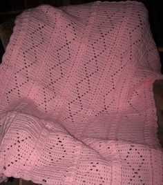 Crocheted Pink Baby Blanket Baby Girl by CherisCrochetCottage, $30.00