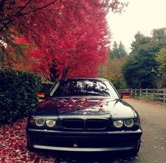 BMW E38 Black with evil look hood