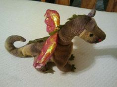 Ty Beanie Baby Scorch the Dragon 1998 Rare... I have three of these. Lol they might not be that rare anymore