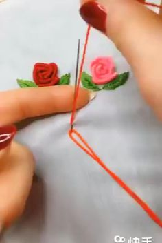 Best collection of embroidery and stitching ideas for women Diy Embroidery Flowers, Diy Embroidery Patterns, Hand Embroidery Videos, Embroidery Stitches Tutorial, Creative Embroidery, Simple Embroidery, Sewing Stitches, Hand Embroidery Art, Brazilian Embroidery Stitches