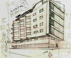 MORETTI, sketch Casa Girasole