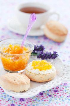 Orange lavender scones