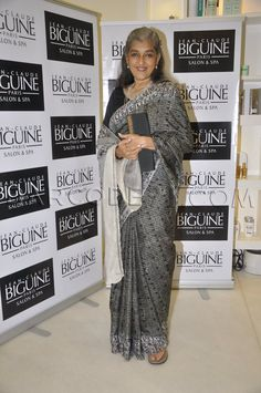 Ratna Pathak Shah in saree at JCB Event in Mumbai on June 2013 . Ratna Pathak, Grey Hair Transformation, Bindi, Saree Blouse, Mumbai, Desi, Sarees, Bollywood, June
