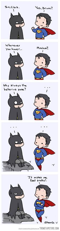 Clark feels pretty :)