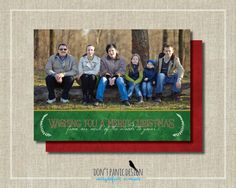 Printable Photo Holidays in Red Green and Gold  by DontPanicDesign