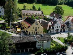 HOHENSCHWANGAU, GERMANY - little german village on the border between Austria and Germany.
