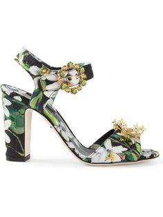 Dolce & Gabbana Orange Blossom Sandals - Boutique Antonia - Farfetch.com