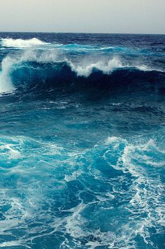 Roll on, deep and dark blue ocean, roll.