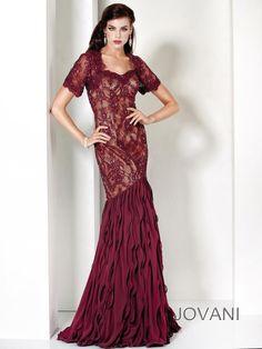Jovani Evenings 4780 #prom #modestdress #lacedress