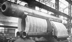 The high-pressure water-tube boiler of the experimental LNER 10000 Hush-Hush steam locomotive. Rated at 450 psi MPa), the boiler has Steam Boiler, Water Tube, Steam Railway, Train Art, British Rail, Train Engines, Steam Engine, Steam Locomotive, Hush Hush