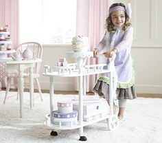 I love the Tea Cart for kids on potterybarnkids.com...too bad it's so expensive!