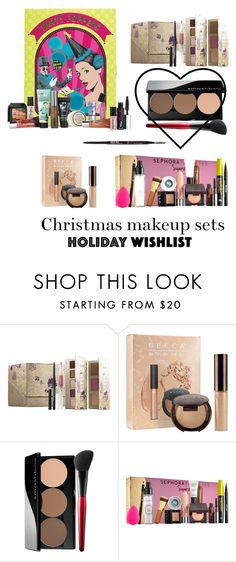 """Holiday makeup sets"" by macwalborn ❤ liked on Polyvore featuring beauty, Stila, Becca, Smashbox and Sephora Collection"