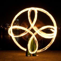 Съемка огненного шоу (fire-show) с прекрасным видом на город - Блог