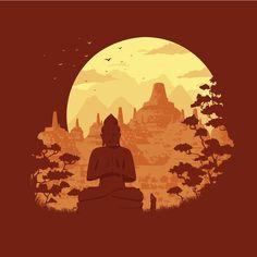 Vesakh Day Illustrated Digital Card on Behance Buddha Background, Gold Wallpaper Background, Budha Art, Small Buddha Statue, Mandala Sleeve, Baby Buddha, Thailand Art, Indonesian Art, Buddha Painting