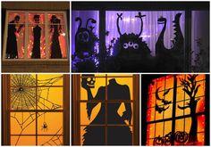 De l'inspiration pour préparer des décorations de fenêtre pour l'halloween