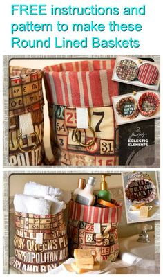 Why not make one or many of these beautifully created Round Lined Baskets that can be used in any room around the house to store whatever you like. Or you can make them, fill them up with goodies, and give them to your friends and family as gifts. The FRE