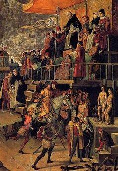 De Rohan à Turenne: Spanish ArmyCi-dessus : Genetaires / Jinetes espagnols selon Pedro Berruguete (Autodafé, vers 1495).