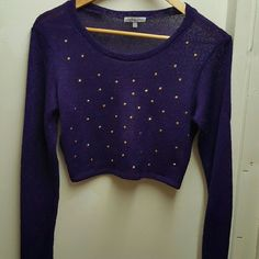 Crop top Decent condition. See through material. Charlotte Russe Tops Crop Tops