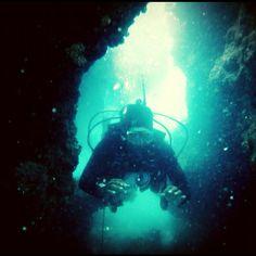 Cave diving  - @hsuba-